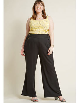Every Opportunity Wide Leg Pants In Black In 2 X Every Opportunity Wide Leg Pants In Black In 2 X by Modcloth