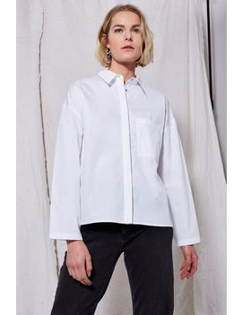 **Popper Boxy Shirt By Boutique by Topshop
