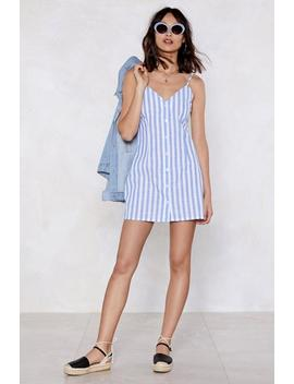 Follow The Buttons Striped Dress by Nasty Gal