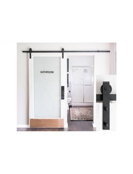8 Foot Sliding Barn Door Hardware Kit (Black)  Includes Easy Step By Step Installation Video  Ultra Quiet, Successfully Tested Beyond 100,000 Rolls  Industrial Strength by Industrial By Design