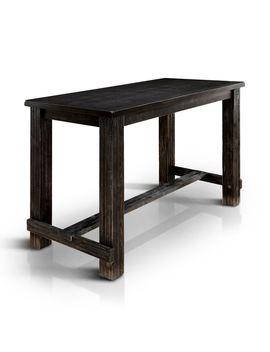 Furniture Of America Telara Contemporary Antique Black Bar Height Table by Furniture Of America