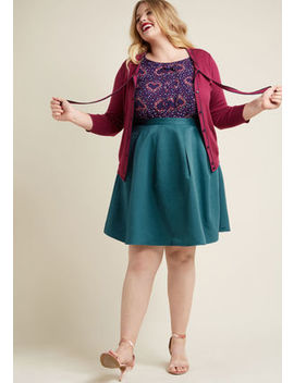 Ethereal Expression Pleated Skirt In Teal In 1 X Ethereal Expression Pleated Skirt In Teal In 1 X by Modcloth