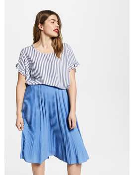 Pleated Fluid Skirt by Mango