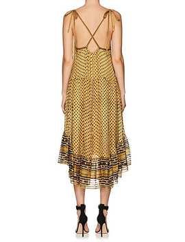 Talin Silk Tiered Midi Dress by Ulla Johnson