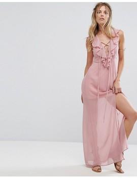 Glamorous Ruffle Detail Maxi Dress by Glamorous