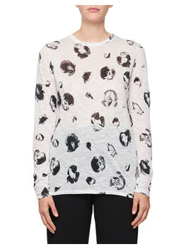 Long Sleeve Blossom Print Cotton T Shirt by Proenza Schouler