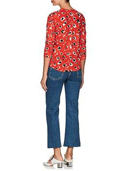 Floral Cotton Jersey Long Sleeve T Shirt by Proenza Schouler