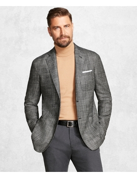 Golden Fleece® Brooks Cloud™ Black And White Plaid Sport Coat by Brooks Brothers
