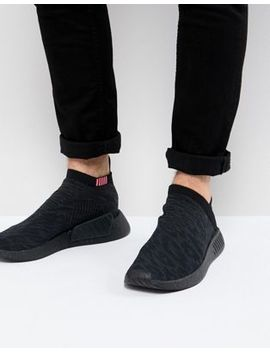 Adidas Originals Nmd Cs2 Primeknit Boost Trainers In Black Cq2373 by Adidas Originals