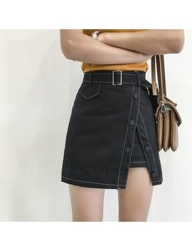 Denim A Line Skirt by Moon City