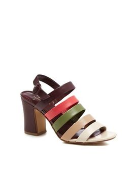 J By Jasper Conran   Multi Coloured Leather 'joelle' High Block Heel Ankle Strap Sandals by J By Jasper Conran
