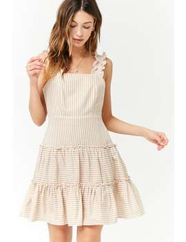Striped Linen Blend Dress by Forever 21