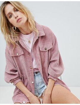 Pretty Little Thing Light Weight Cord Jacket by Pretty Little Thing