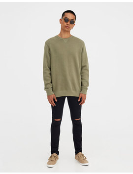Jeans Superskinny Fit Rotos Rodilla by Pull & Bear