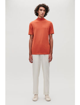 High Neck Knitted Cotton Top by Cos
