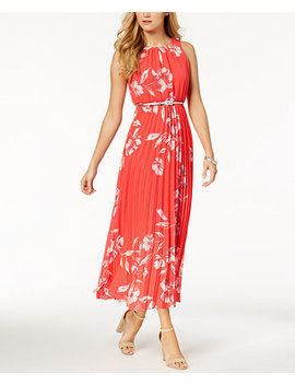 Petite Belted Printed Maxi Dress by Jessica Howard