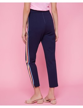 Multicolor Stripe Ponte Pant by Juicy Couture