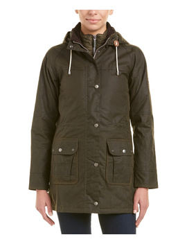 Barbour Leather Trim Seaton Wax Jacket by Barbour