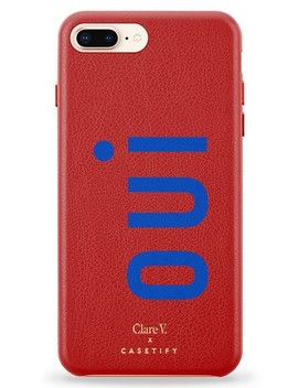 X Clare V. Oui Leather I Phone 7/8 & 7/8 Plus Case by Casetify