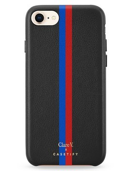X Clare V. Stripe Leather I Phone 7/8 & 7/8 Plus Case by Casetify