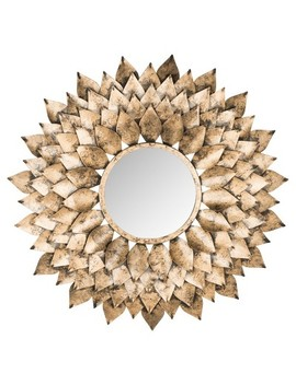 Sunburst Peacock Feather Decorative Wall Mirror Gold   Safavieh® by Safavieh
