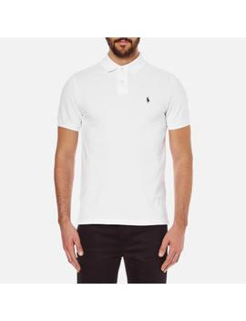 Polo Ralph Lauren Men's Custom Fit Short Sleeved Polo Shirt   White by Polo Ralph Lauren