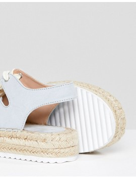 Pull&Bear Lace Up Espadrille In Blue by Pull&Bear