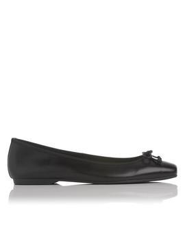 Chelsey Black Leather Flats by L.K.Bennett