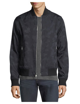 Camouflage Print Loro Plana Bomber Jacket by Michael Kors