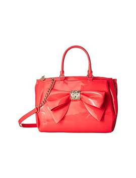 Neon Patent Bow Satchel by Betsey Johnson