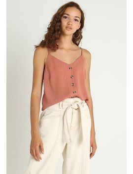 Button Airflow Cami    Top by New Look