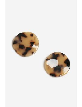 **Tortoiseshell Stud Earrings by Topshop