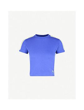 Side Stripe Cropped Cotton Jersey T Shirt by Fenty X Puma