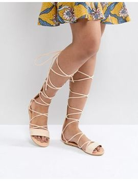 Asos Flaming Tie Leg Sandals by Asos Collection