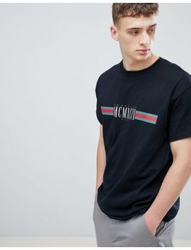 New Look T Shirt With Mcmxc Print In Black by New Look