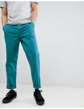 Asos Design Skater Chinos In Teal by Asos Design