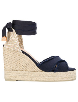 Ankle Tie Wedge Espadrilles by Castañer