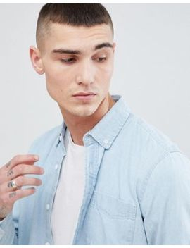 Pull&Bear Denim Shirt In Light Blue by Pull&Bear