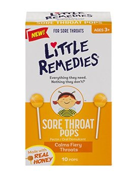 Little Remedies Sore Throat Pops With Real Honey For Kids 3+: Soothing Pops That Calms Fiery Throats by Little Remedies