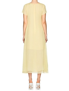 Gracen Silk Chiffon Draped Dress by Sies Marjan
