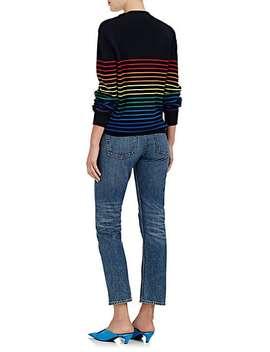 Logo Rainbow Striped Wool Sweater by J.W.Anderson