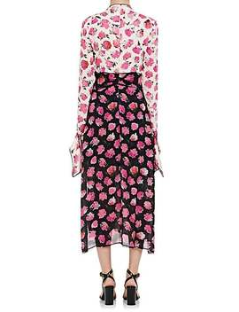 Floral Silk Georgette Fitted Dress by Proenza Schouler