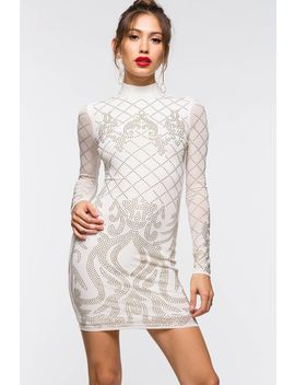 Adrena Stud Mesh Bodycon by A'gaci
