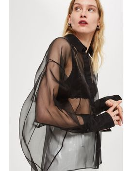 **Organza Spiral Shirt By Boutique by Topshop