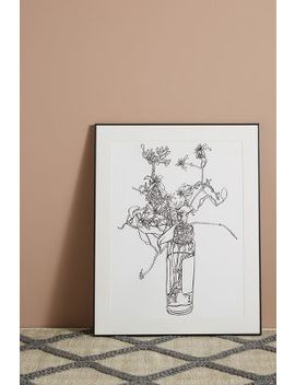 Flowers In A Capers Jar Wall Art by Artfully Walls