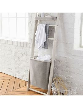 Wall Leaning Storage Rack With Hamper by P Bteen