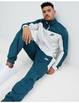Nike Polyknit Tracksuit Set In Green 861774 328 by Nike