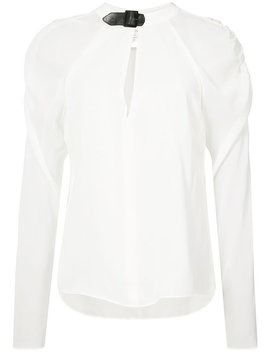 Rouched Sleeves Blouse Home Women Clothing Blouses by Fleur Du Mal
