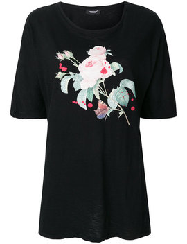 Rose Print Slouchy T Shirthome Women Clothing T Shirts & Jerseys Front Zip Slim Leg Jeansrose Print Slouchy T Shirt by Undercover