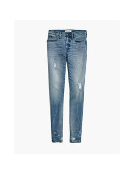 "Taller 9"" High Rise Skinny Jeans: Destructed Hem Edition by Madewell"